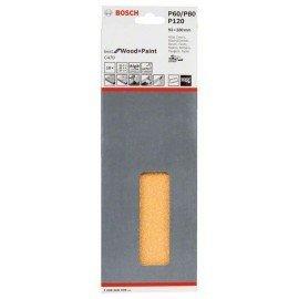 Bosch C470 csiszolólap, 10-es csomag 93 x 230 mm, 3 x 60; 4 x 80; 3 x 120