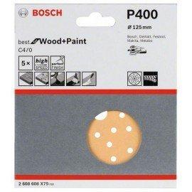 Bosch C470 csiszolólap, 5-ös csomag 125 mm, 400