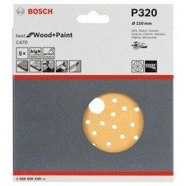 Bosch C470 csiszolólap, 5-ös csomag 150 mm, 320