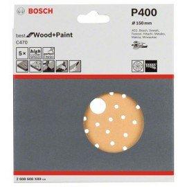 Bosch C470 csiszolólap, 5-ös csomag 150 mm, 400