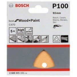 Bosch C470 csiszolólap, 5-ös csomag 93 mm, 100