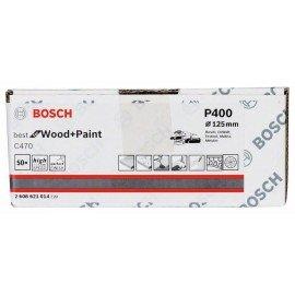 Bosch C470 csiszolólap, 50 db-os készlet 125 mm, 400