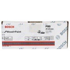 Bosch C470 csiszolólap, 50 db-os készlet 125 mm, 80