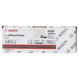 Bosch C470 csiszolólap, 50 db-os készlet 150 mm, 120
