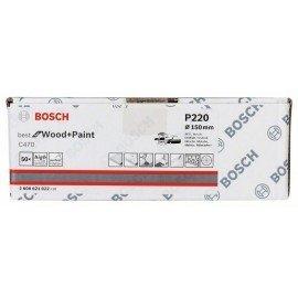 Bosch C470 csiszolólap, 50 db-os készlet 150 mm, 220