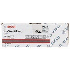 Bosch C470 csiszolólap, 50 db-os készlet 150 mm, 320