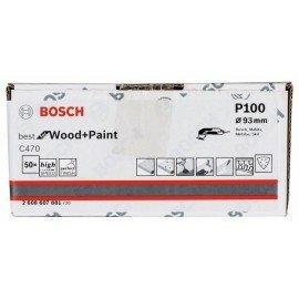 Bosch C470 csiszolólap, 50 db-os készlet 93 mm, 100