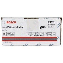 Bosch C470 csiszolólap, 50 db-os készlet 93 mm, 120