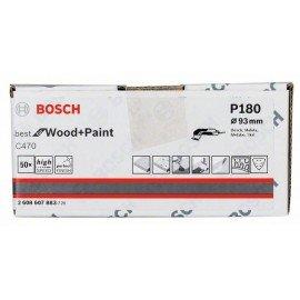 Bosch C470 csiszolólap, 50 db-os készlet 93 mm, 180