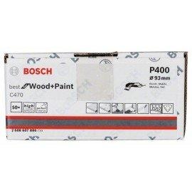 Bosch C470 csiszolólap, 50 db-os készlet 93 mm, 400