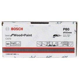Bosch C470 csiszolólap, 50 db-os készlet 93 mm, 80