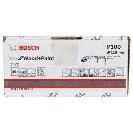 Bosch C470 papír csiszolólap, 50-es csomag 115 mm, 100