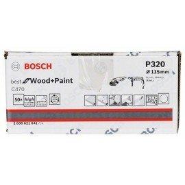 Bosch C470 papír csiszolólap, 50-es csomag 115 mm, 320