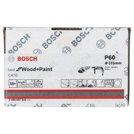 Bosch C470 papír csiszolólap, 50-es csomag 115 mm, 60