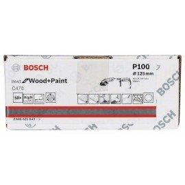 Bosch C470 papír csiszolólap, 50-es csomag 125 mm, 100