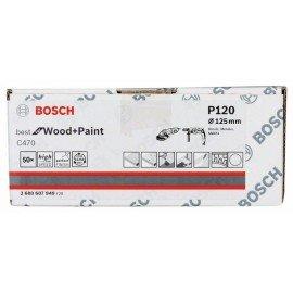 Bosch C470 papír csiszolólap, 50-es csomag 125 mm, 120