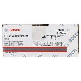 Bosch C470 papír csiszolólap, 50-es csomag 125 mm, 180