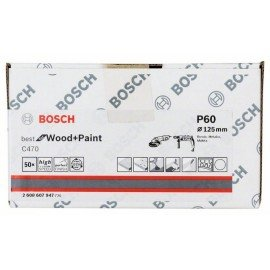 Bosch C470 papír csiszolólap, 50-es csomag 125 mm, 60