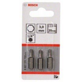 Bosch Csavarozófej, extra kemény HEX 3, 25 mm