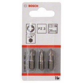 Bosch Csavarozófej, extra kemény PZ 3, 25 mm