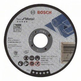 Bosch Darabolótárcsa, egyenes, Best for Metal A 30 V BF, 115 mm, 2,5 mm
