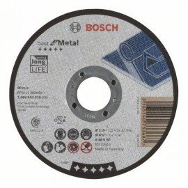 Bosch Darabolótárcsa, egyenes, Best for Metal A 46 V BF, 115 mm, 1,5 mm