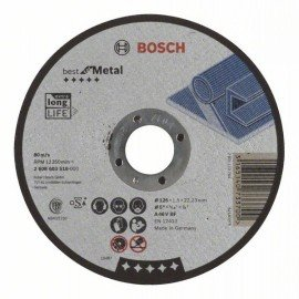 Bosch Darabolótárcsa, egyenes, Best for Metal A 46 V BF, 125 mm, 1,5 mm