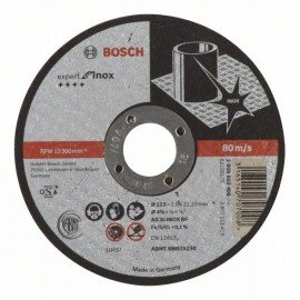 Bosch Darabolótárcsa, egyenes, Expert for Inox AS 30 S INOX BF, 115 mm, 3,0 mm