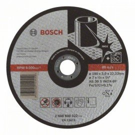 Bosch Darabolótárcsa, egyenes, Expert for Inox AS 30 S INOX BF, 180 mm, 3,0 mm