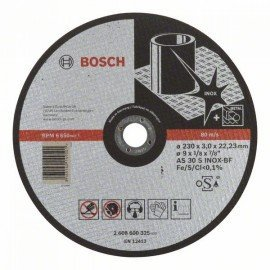 Bosch Darabolótárcsa, egyenes, Expert for Inox AS 30 S INOX BF, 230 mm, 3,0 mm
