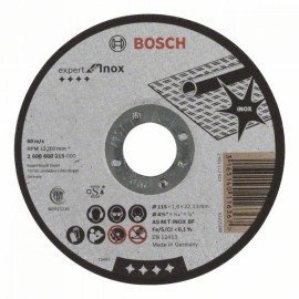 Bosch Darabolótárcsa, egyenes, Expert for Inox AS 46 T INOX BF, 115 mm, 1,6 mm
