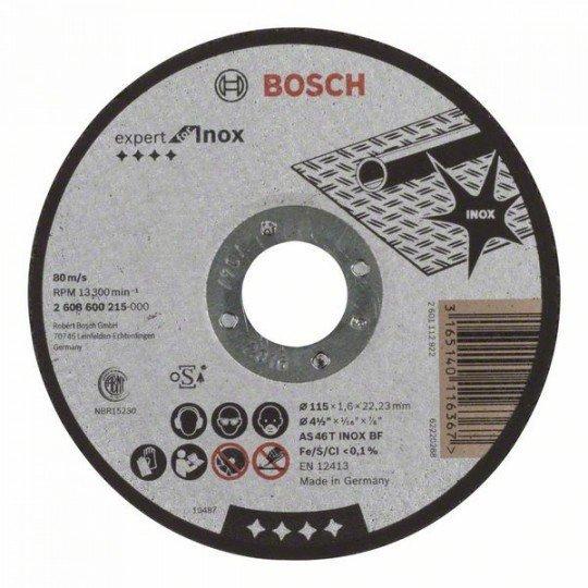 Bosch Darabolótárcsa, egyenes, Expert for Inox AS 46 T INOX BF, 115 mm, 1,6 mm
