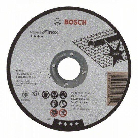 Bosch Darabolótárcsa, egyenes, Expert for Inox AS 46 T INOX BF, 125 mm, 1,6 mm