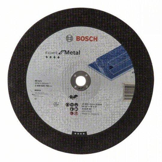 Bosch Darabolótárcsa, egyenes, Expert for Metal A 24 R BF, 300 mm, 20,00 mm, 3,5 mm
