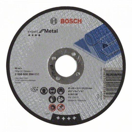 Bosch Darabolótárcsa, egyenes, Expert for Metal A 30 S BF, 125 mm, 2,5 mm
