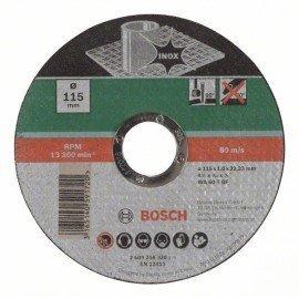 Bosch Darabolótárcsa, egyenes, Inox D= 115 mm; Vastagság= 1,0 mm