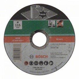 Bosch Darabolótárcsa, egyenes, Inox D= 115 mm; Vastagság= 1,6 mm