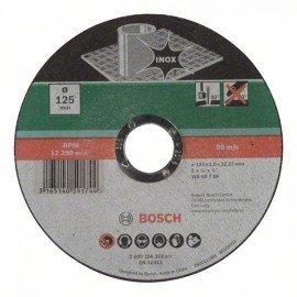 Bosch Darabolótárcsa, egyenes, Inox D= 125 mm; Vastagság= 1,0 mm
