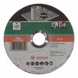 Bosch Darabolótárcsa, egyenes, Inox D= 125 mm; Vastagság= 1,6 mm