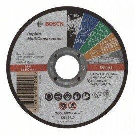 Bosch Darabolótárcsa, egyenes, Rapido Multi Construction ACS 60 V BF, 115 mm, 1,0 mm