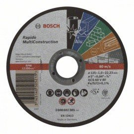 Bosch Darabolótárcsa, egyenes, Rapido Multi Construction ACS 60 V BF, 125 mm, 1,0 mm