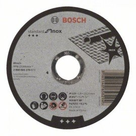 Bosch Darabolótárcsa, egyenes, Standard for Inox WA 60 T BF, 115 mm, 22,23 mm, 1,6 mm
