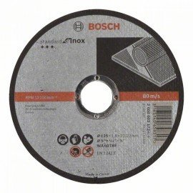 Bosch Darabolótárcsa, egyenes, Standard for Inox WA 60 T BF, 125 mm, 22,23 mm, 1,6 mm