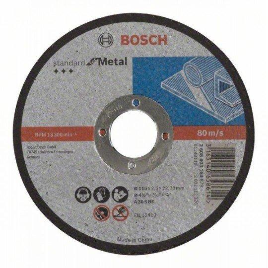 Bosch Darabolótárcsa, egyenes, Standard for Metal A 30 S BF, 115 mm, 22,23 mm, 2,5 mm