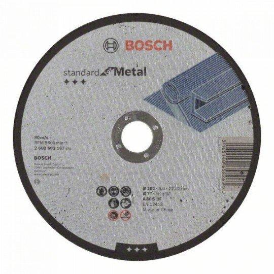 Bosch Darabolótárcsa, egyenes, Standard for Metal A 30 S BF, 180 mm, 22,23 mm, 3,0 mm