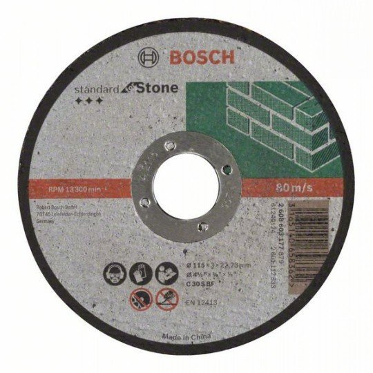 Bosch Darabolótárcsa, egyenes, Standard for Stone C 30 S BF, 115 mm, 22,23 mm, 3,0 mm