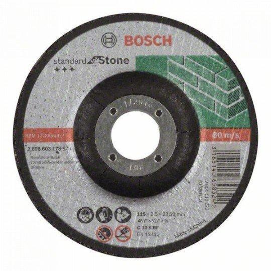 Bosch Darabolótárcsa, hajlított, Standard for Stone C 30 S BF, 115 mm, 22,23 mm, 2,5 mm