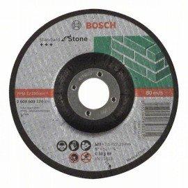Bosch Darabolótárcsa, hajlított, Standard for Stone C 30 S BF, 125 mm, 22,23 mm, 2,5 mm
