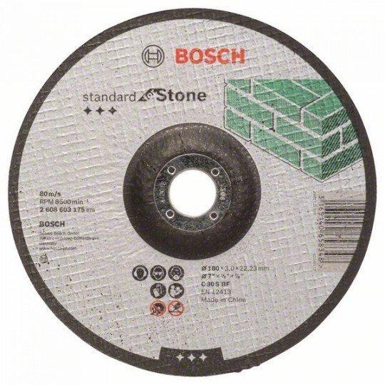 Bosch Darabolótárcsa, hajlított, Standard for Stone C 30 S BF, 180 mm, 22,23 mm, 3,0 mm