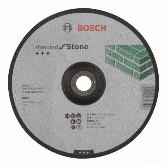 Bosch Darabolótárcsa, hajlított, Standard for Stone C 30 S BF, 230 mm, 22,23 mm, 3,0 mm